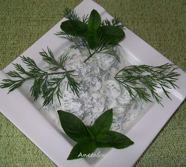 Ogórki w zielonym sosie