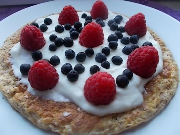 Omlet otrębowy na słodko
