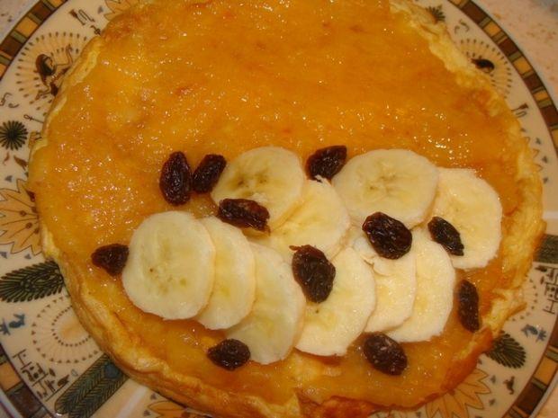 Omlet z bananem i kaki