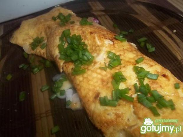Omlet z serem brie