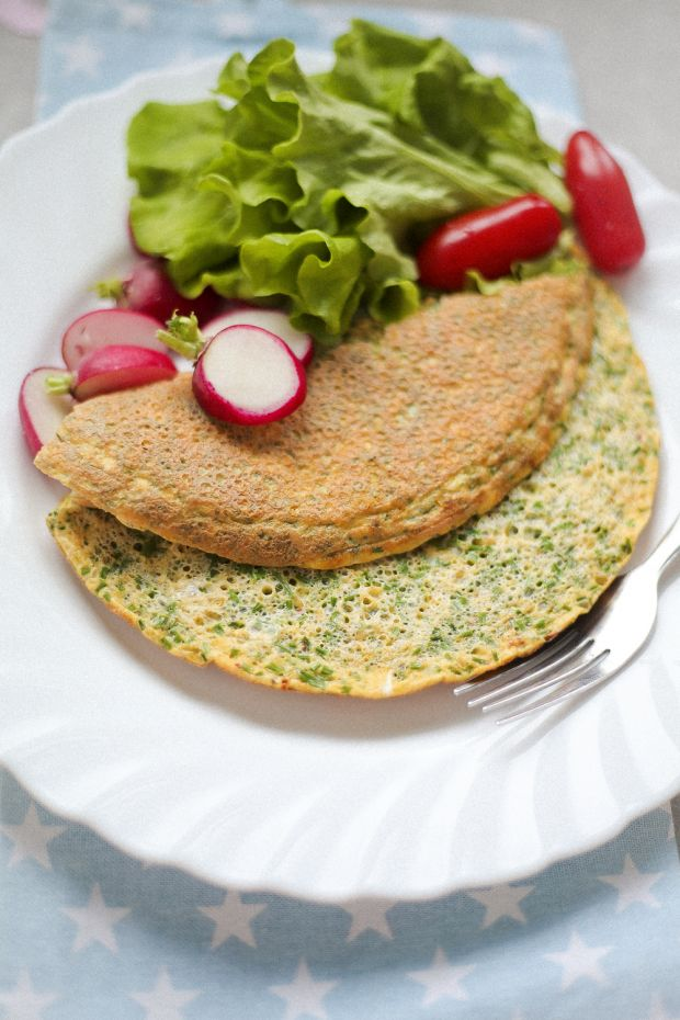 Omlet ze szczypiorkiem i kurkuma