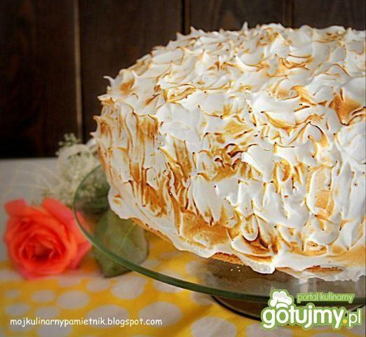 Opalony tort ananasowo-kokosowy