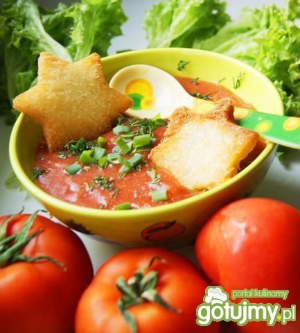 Ostry mus pomidorowy z grzankami :