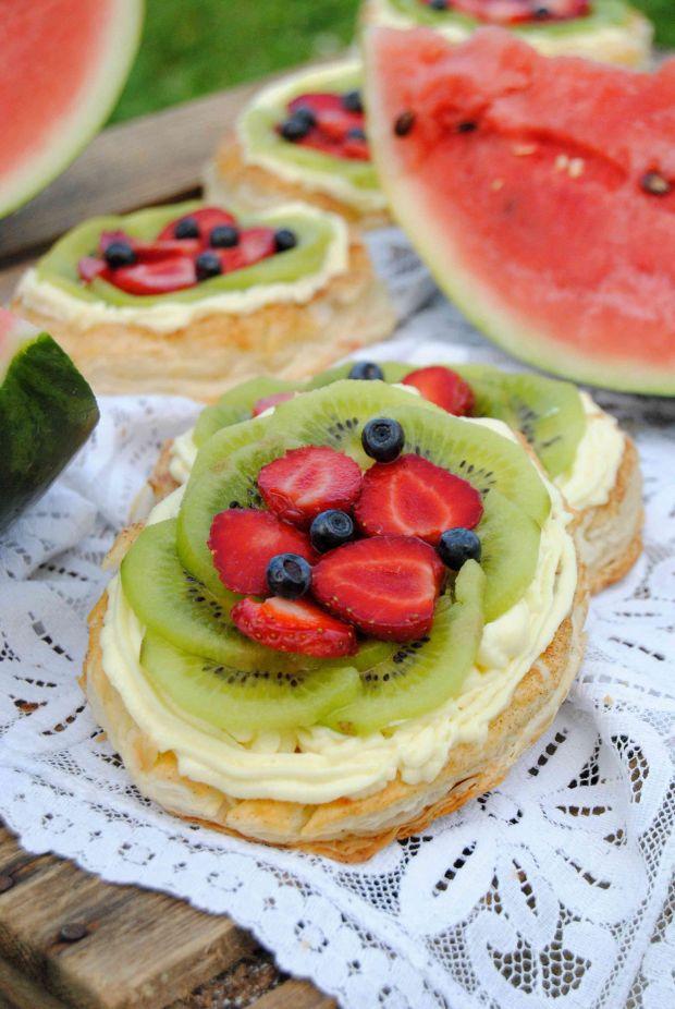 Owocowe arbuzy na cieście francuskim