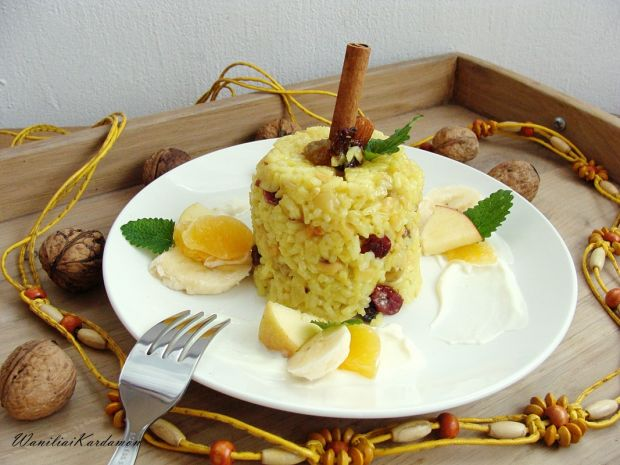 Owocowo-bakaliowe risotto