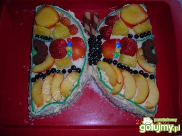 Owocowy motylek