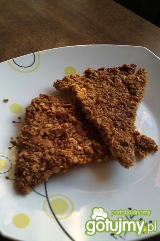 Owsiana tarta ciasteczkowa z czekoladą