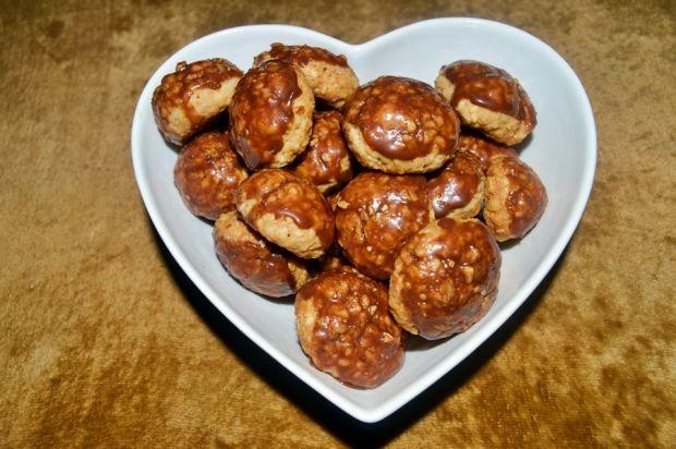 Owsiano-sezamkowe ciasteczka w czekoladzie