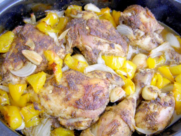 Pałki kurczaka pieczone z papryką,czosnkiem