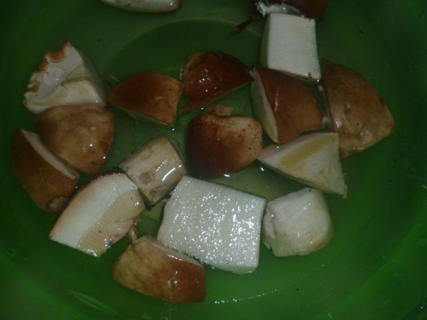 Pałki pieczone z borowikami i papryką