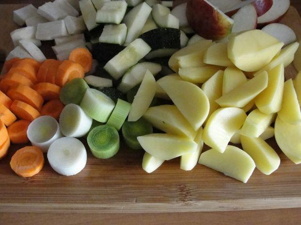 Pałki w marynacie z warzywami