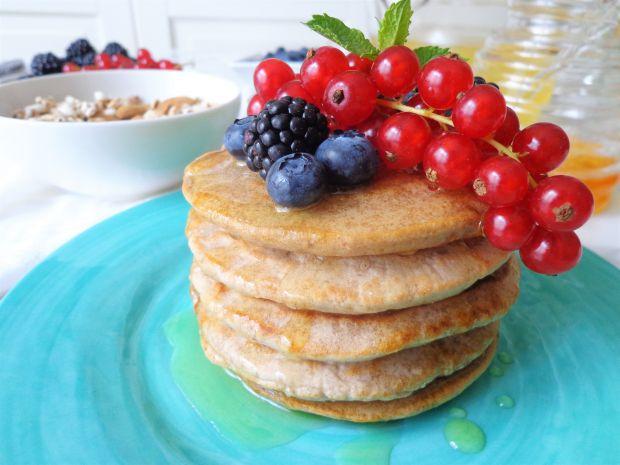 Pancake z mąki kasztanowej, bez jajek i mleka