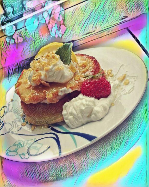 Pancakes z owocami.