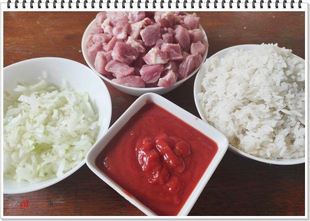 Papryka Eli z mięsem i ryżem