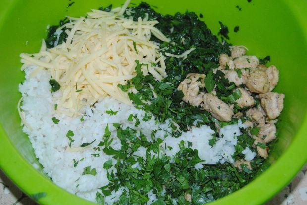 Papryka faszerowana ryżem i szpinakiem