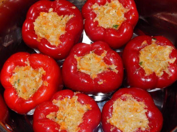 Papryka z ryżem i grzybami