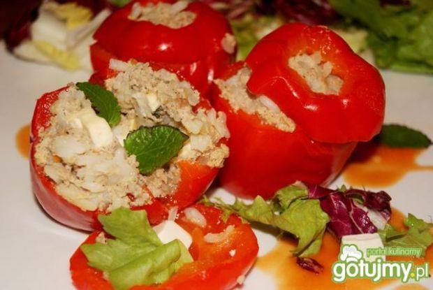 Papryki faszerowane mięsem i Fetą