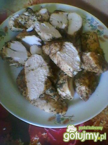 parowana pierś z kurczaka po myśliwsku