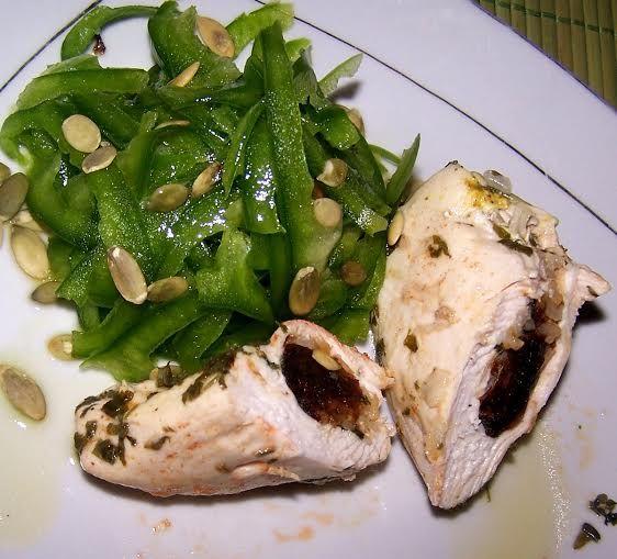Parowane kieszonki z kurczaka marynowane w ziołach
