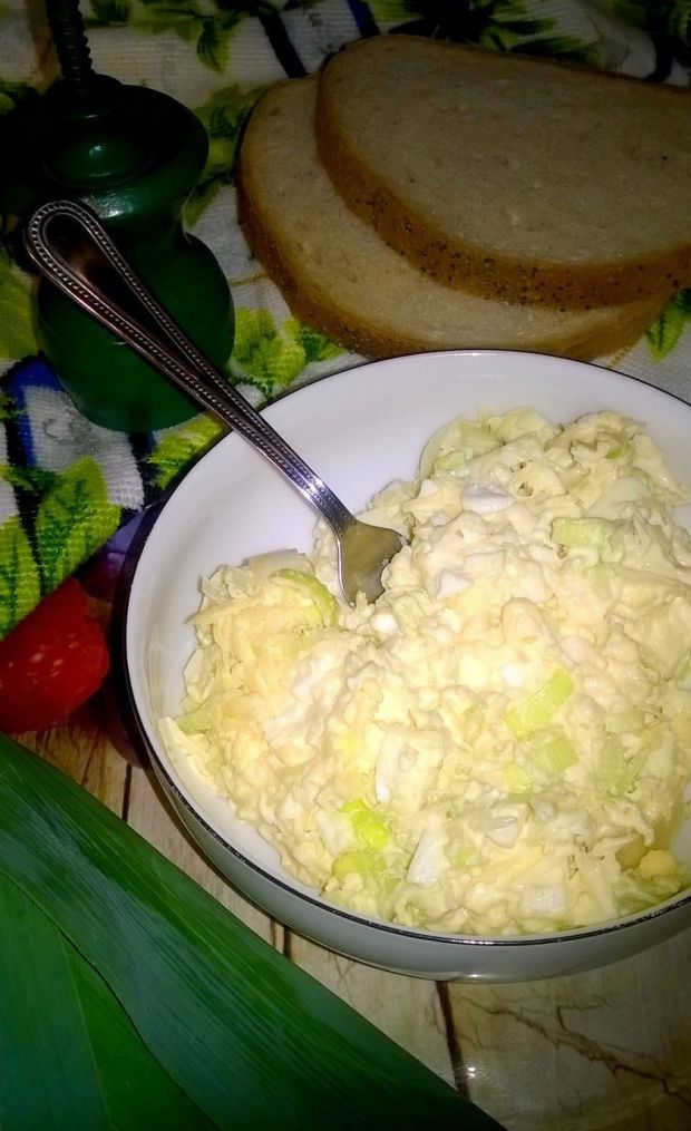 Pasta kanapkowa (ser, jajka, por)