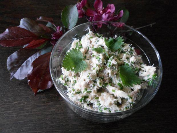 Pasta z makreli ze szczypiorkiem i pokrzywą