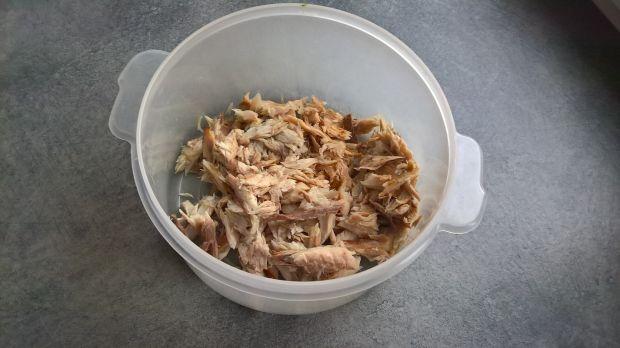 Pasta z wędzonej makreli i pieczonego buraka