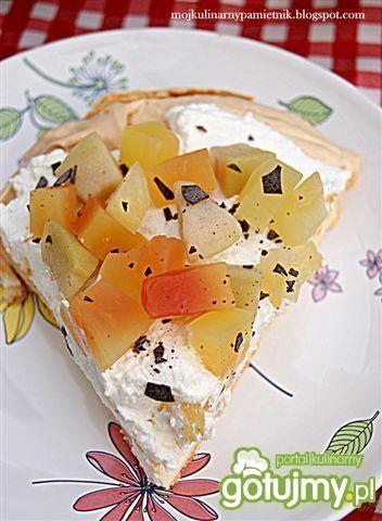 Pavlova z egzotycznymi owocami