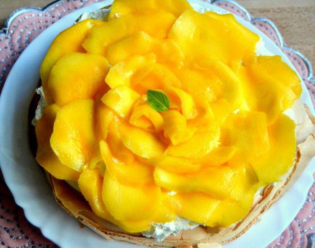 Pavlova z mango
