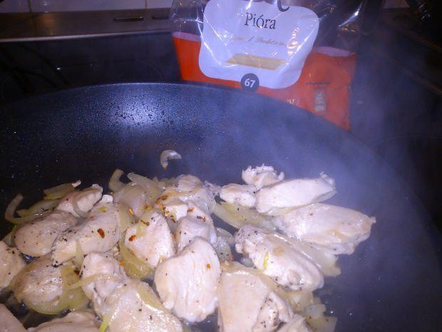 Penne z kurczakiem w mascarpone
