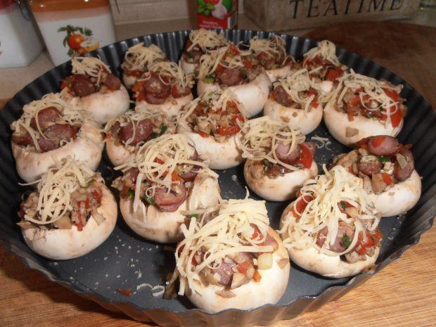 Pieczaki faszerowane kabanosami