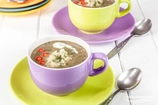 Pieczarkowa zupa-krem z ryżem