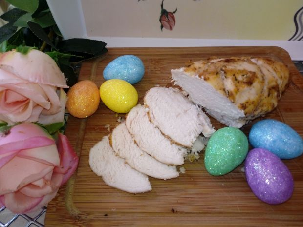 Pieczona pierś z kurczaka z marynaty jogurtowej