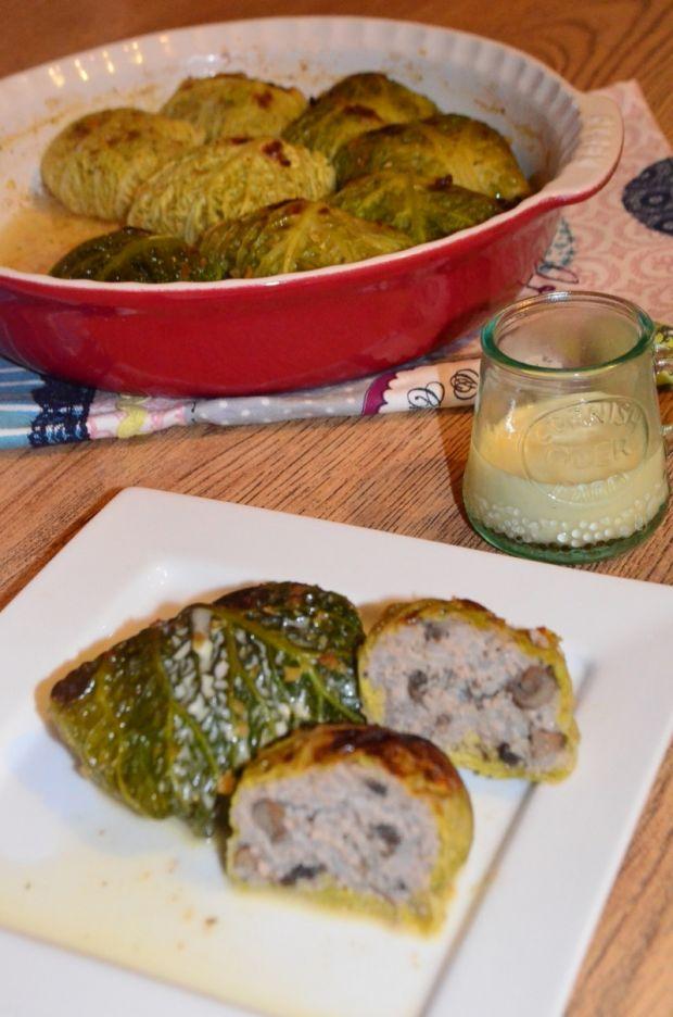 Pieczone gołąbki w kapuście włoskiej