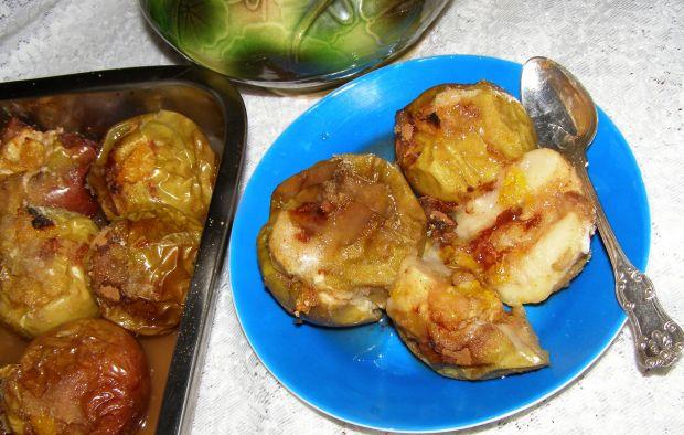 Pieczone jabłka z pomarańczą,cynamonem,miodem