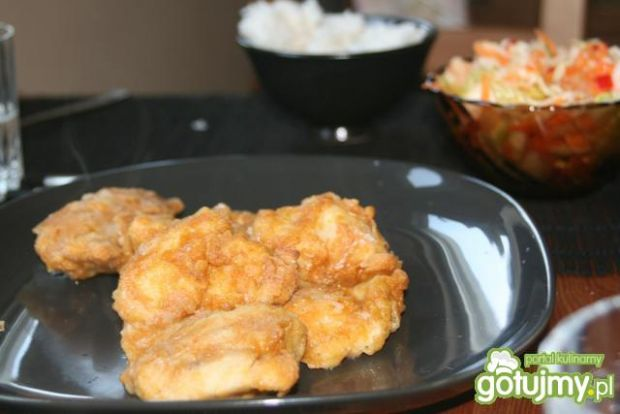 Pieczone kawałki kurczaka w panierce