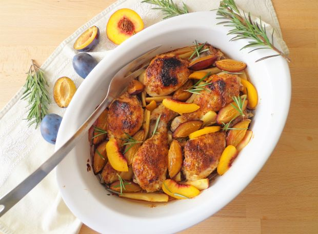 Pieczone pałki kurczaka w salsie miodowo-musztardo