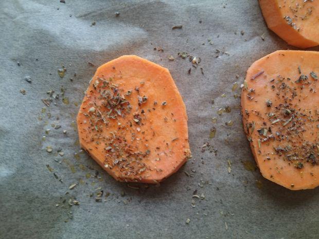 Pieczone talarki z batatów