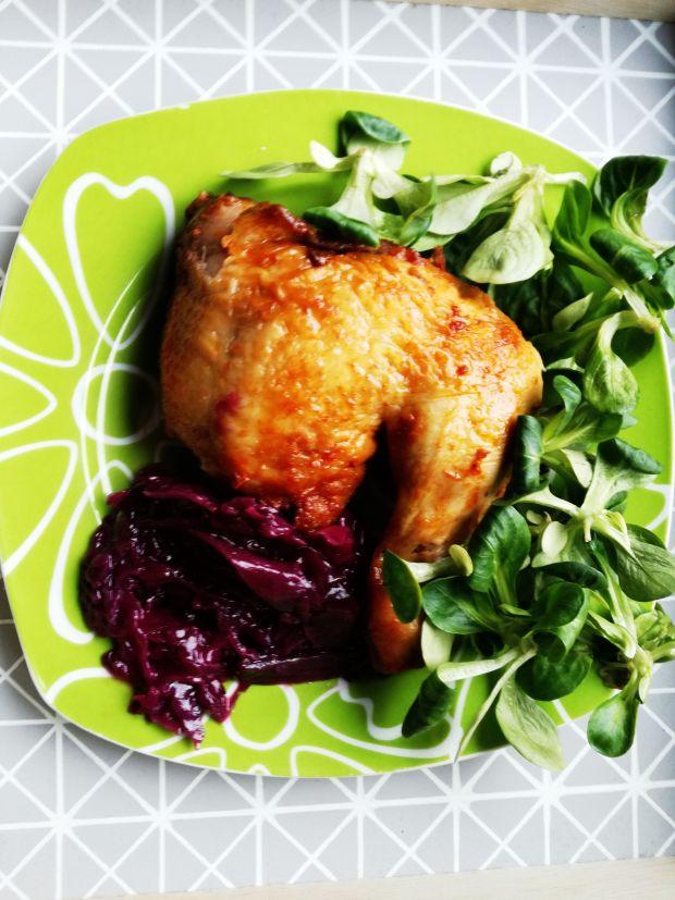 Pieczone Udko z kurczaka w miodowej glazurze
