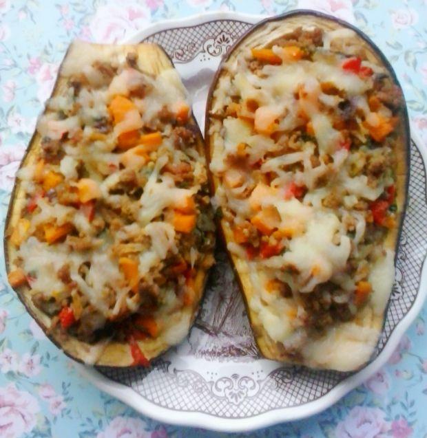 Pieczony bakłażan z dynią i mięsem mielonym