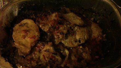 Pieczony karczek z warzywami konserwowymi