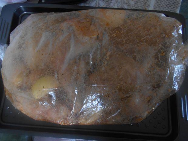 Pieczony królik długo leżakowany