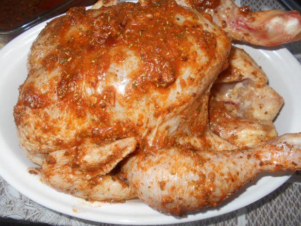 Pieczony kurczak długo marynowany
