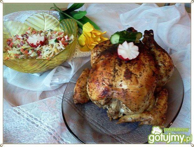 Pieczony kurczak z colą w tle