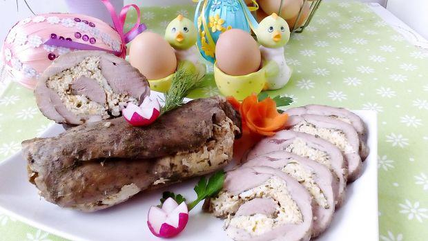Pieczony udziec indyczy z pastą jajeczno-chrzanową