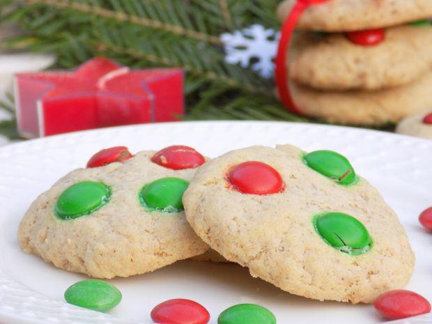 Pierniczkowe ciasteczka z cukierkami