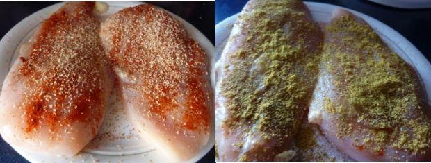 Pierś kurczaka duszona w cebuli z marchewką