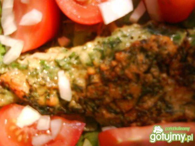 Pierś kurczaka w cieście ziołowym