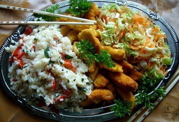 Pierś kurczaka z ryżem a'la chińszczyzna