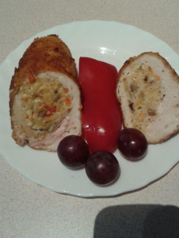 Pierś z kurczaka faszerowana