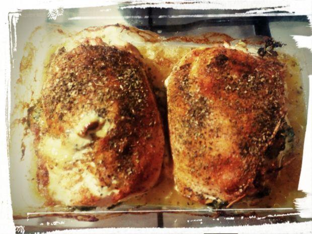 Piersi z kurczaka ze szpinakiem i mozzarellą